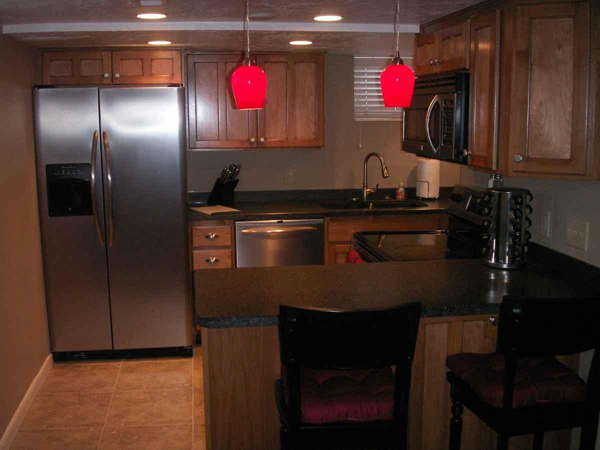 downstair stainless steel refrigerator idea