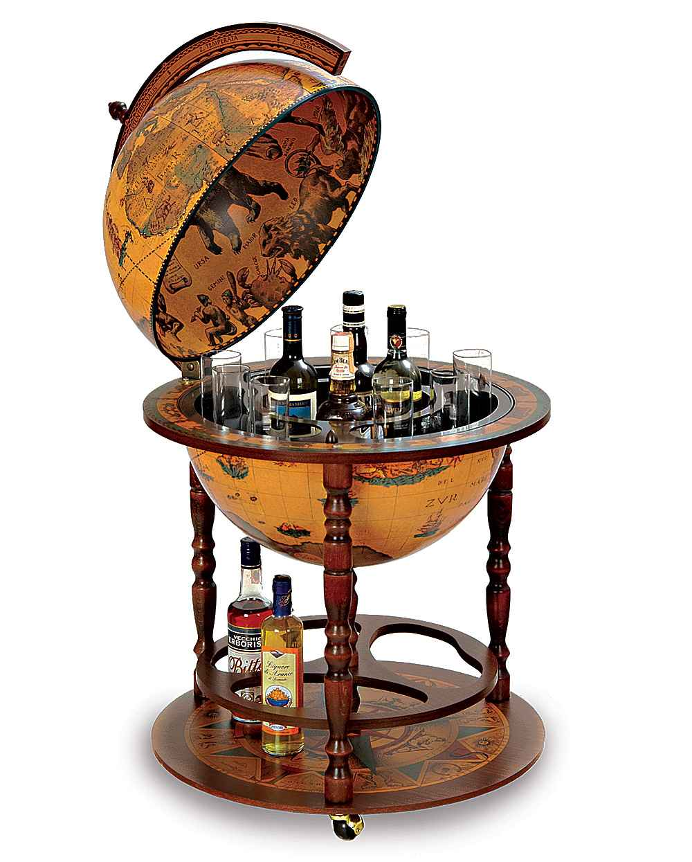small globe liquor cabinets for home