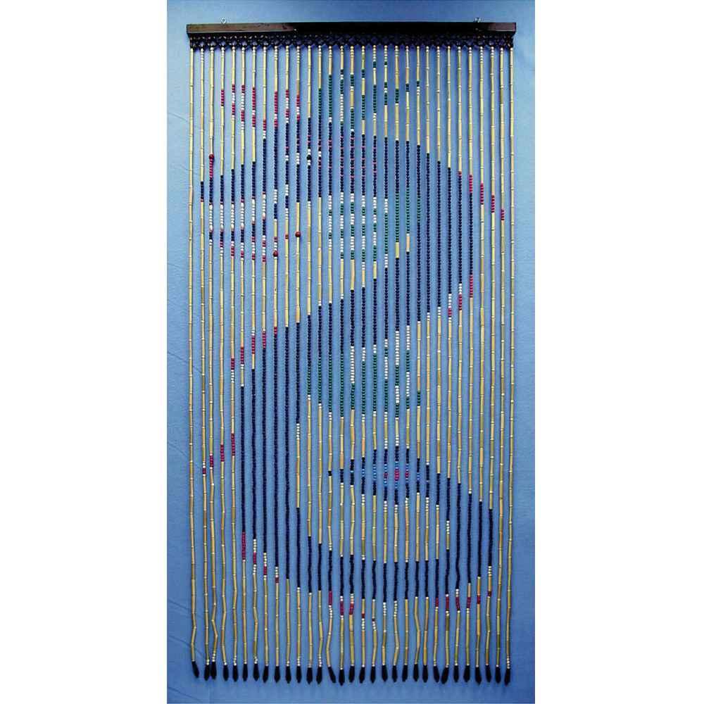 Blue Dragon Wooden Door Curtain