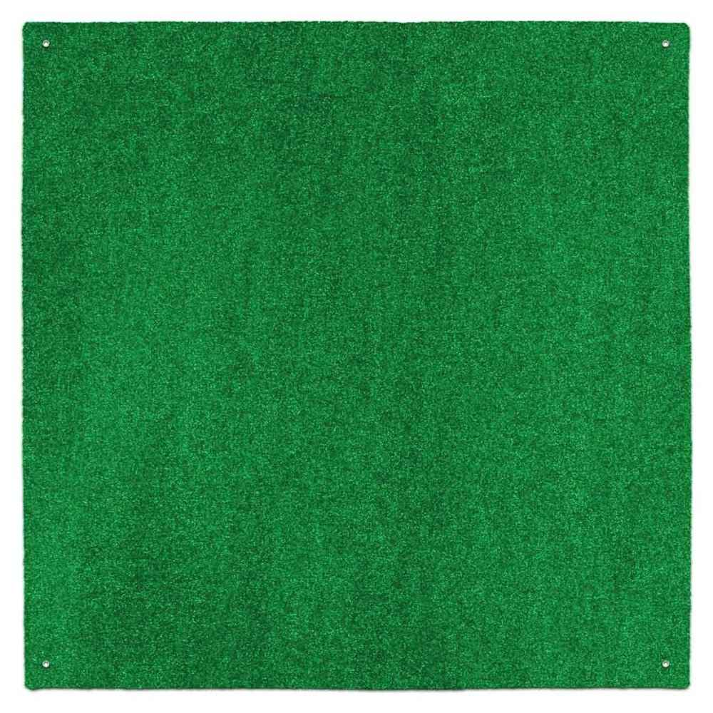 Green artificial turf rug