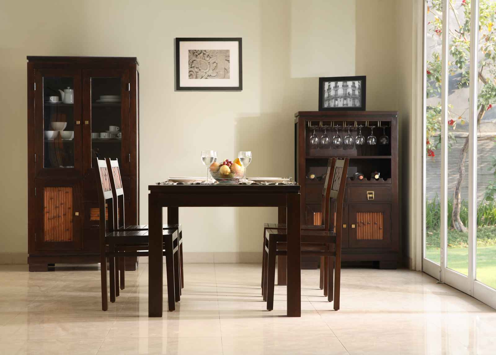 Ibiza Brown Dining Room Chair and Desk Collection