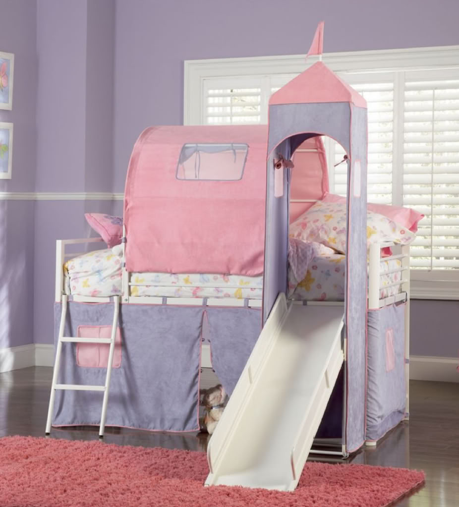 Princess Castle Loft Bed for Twins