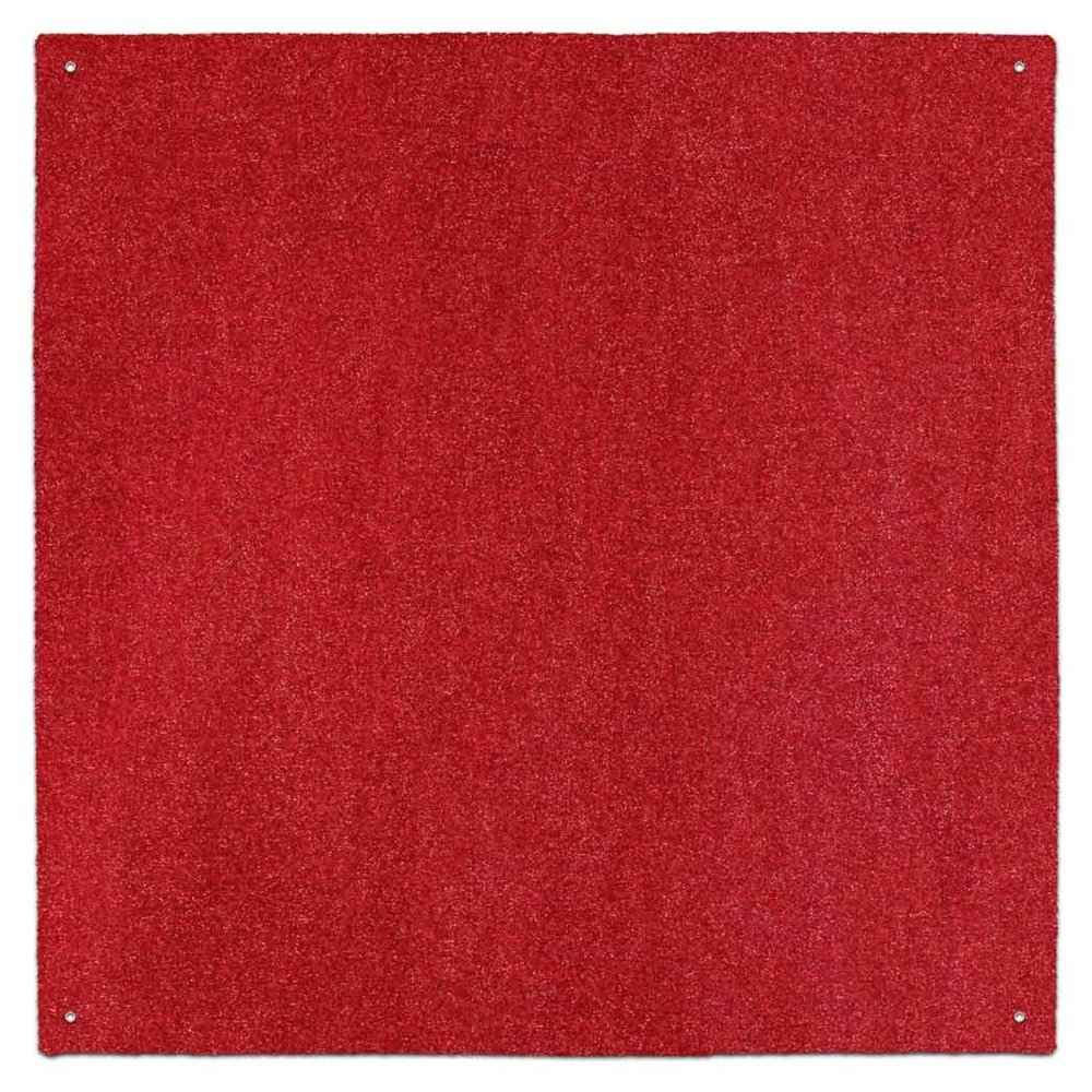 Red outdoor turf rug