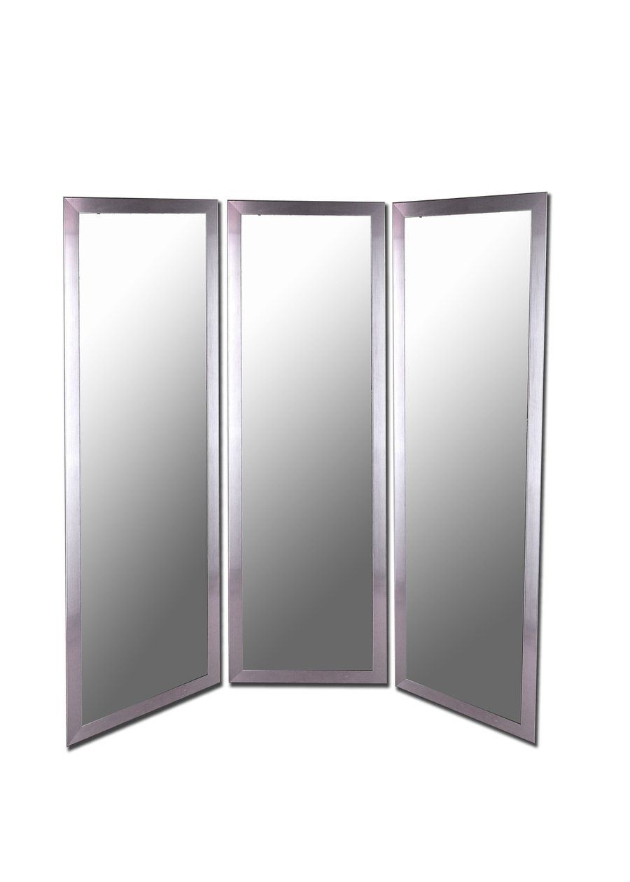 Royal Stainless Full Length Free Standing Tri-Fold Mirror - 66W x 70H in.