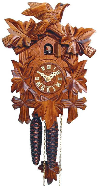 Sternreiter - German Hand Carved Cuckoo Clock with One-Day Movement 1200