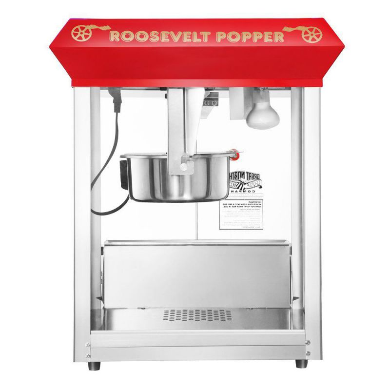 Great Northern Popcorn 6010 Roosevelt Top Antique Style Popcorn Popper Machine, 8-Ounce