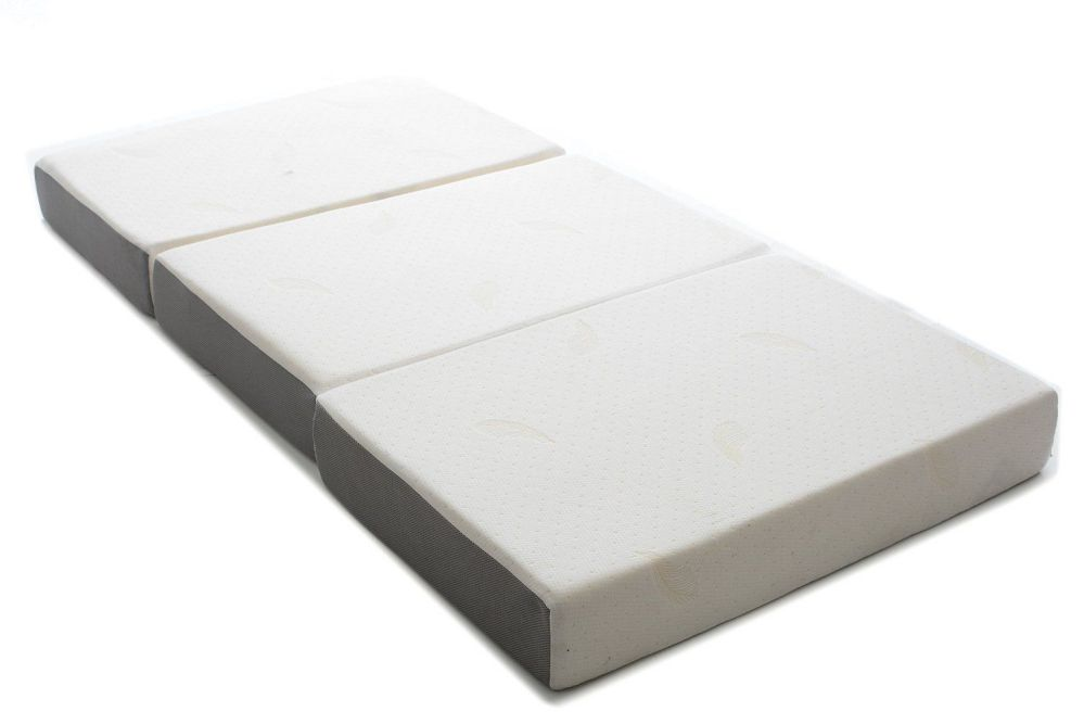 Milliard 6-Inch Memory Foam Tri-fold Mattress with Ultra Soft Removable Cover with Non-Slip Bottom - Queen