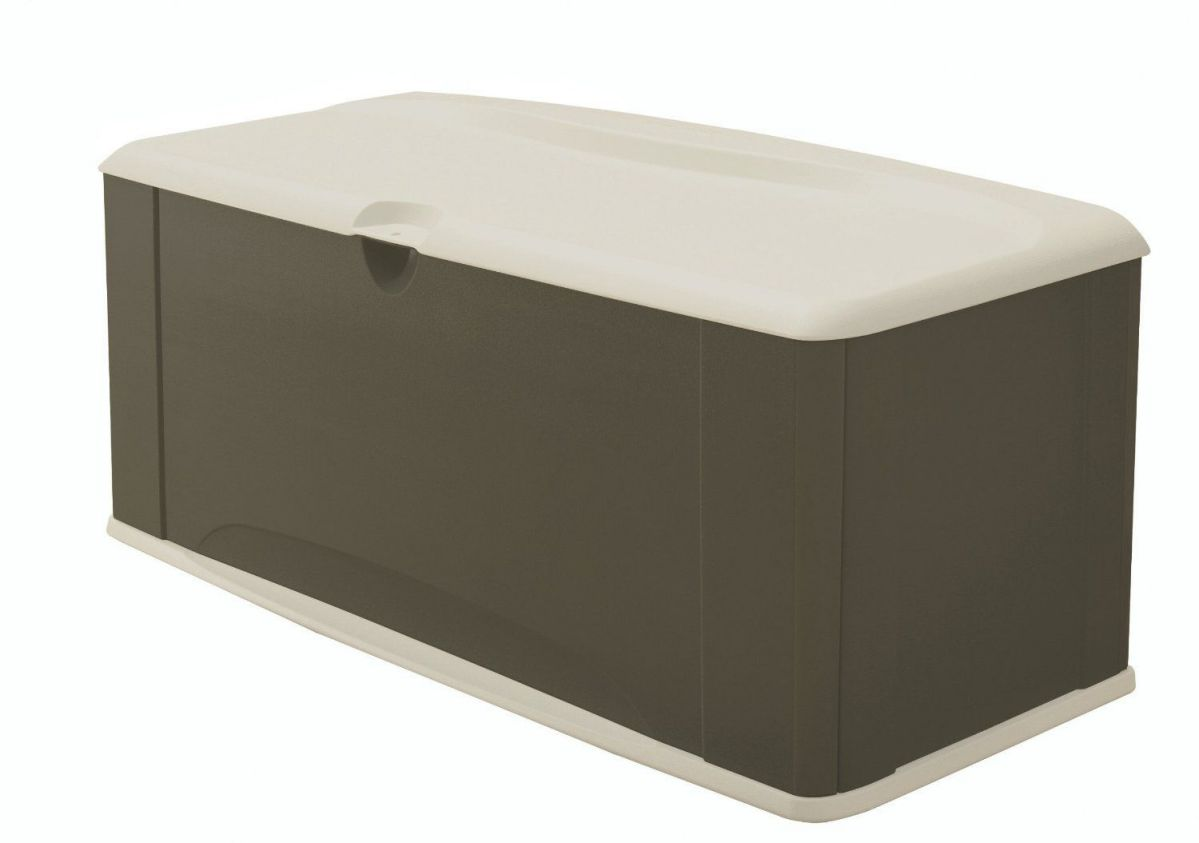 Rubbermaid 5E39 Extra Large Deck Box with Seat, Sandstone