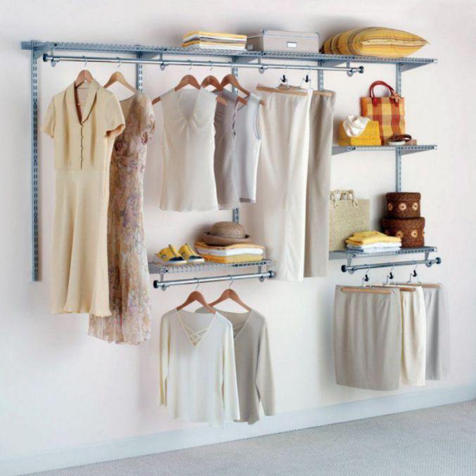 Rubbermaid Configurations Custom 4-8 Ft Closet Organizer Kit, Titanium