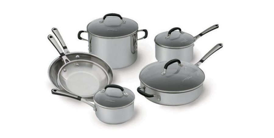 Simply Calphalon Stainless Steel 10 piece Cookware Set, 1757697