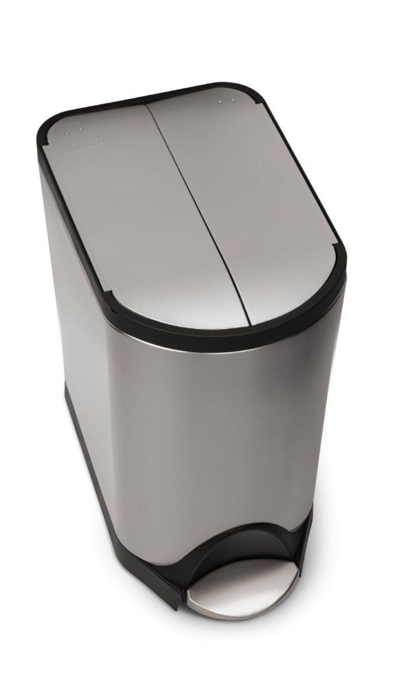 simplehuman Butterfly Step Trash Can, Stainless Steel, 20 L / 5.3 Gal