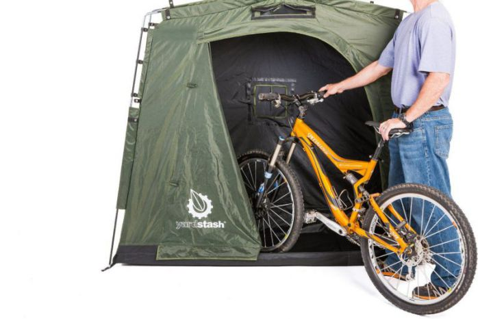 The YardStash III: Space Saving Outdoor Bike Storage, Garden Storage and Pool Storage