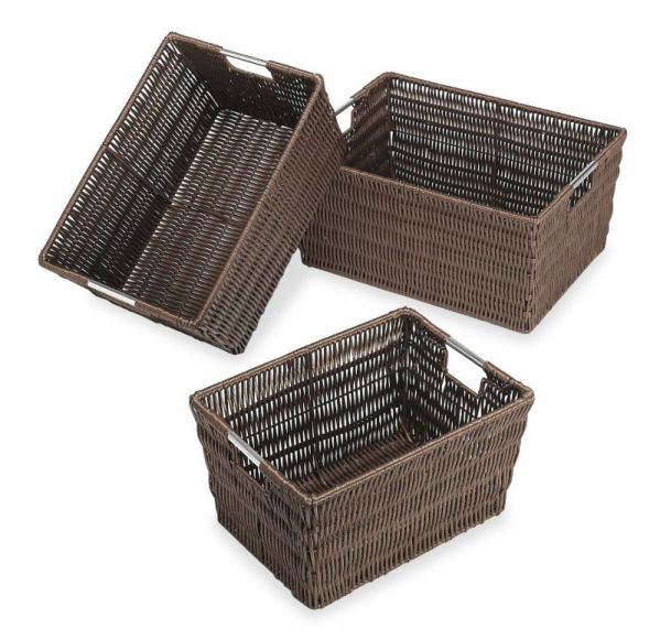 Whitmor 6500-1959 Rattique Baskets, Java, Set of 3