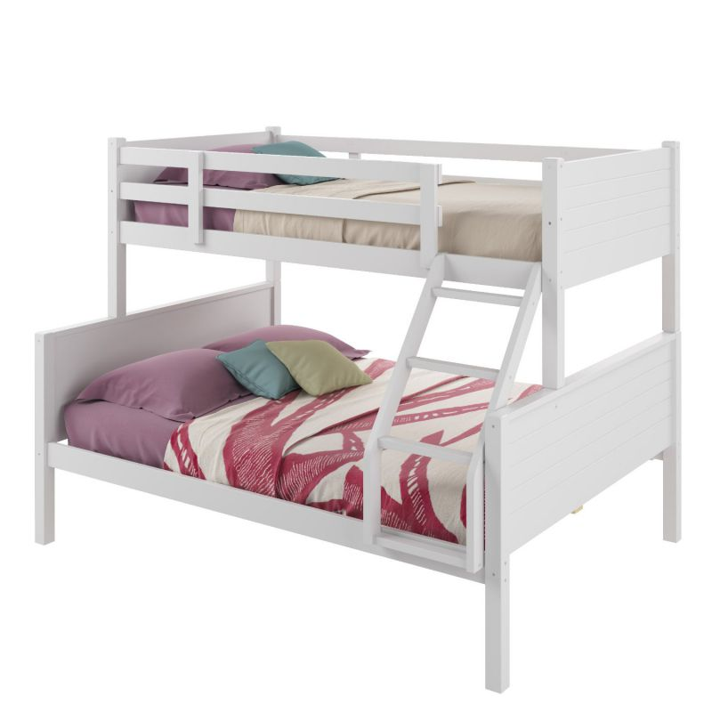CorLiving BAF-410-B Ashland Bunk Bed, Twin-Over-Full, Snow White