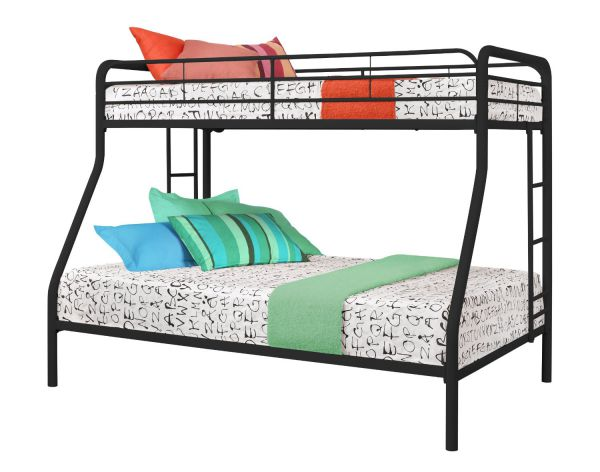 Dorel Home Products Twin-Over-Full Bunk Bed, Black