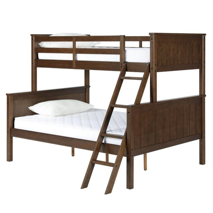 Dorel Living DL1008TFBB Maxton Twin over Full Bunk Bed, Mocha