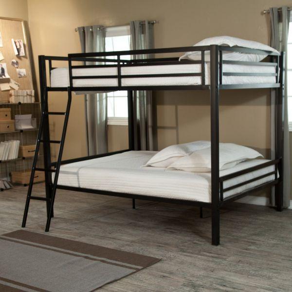 Duro Hanley Full Over Full Bunk Bed - Black