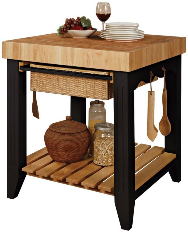 powell color story black butcher block kitchen island kitchen appliances feel the home part 3 28068