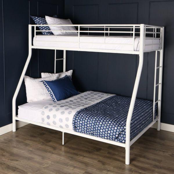 Walker Edison Twin-Over-Full Bunk Bed, White