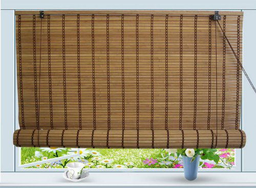 """Bamboo Roll Up Window Blind Sun Shade W30"""" x H72"""""""