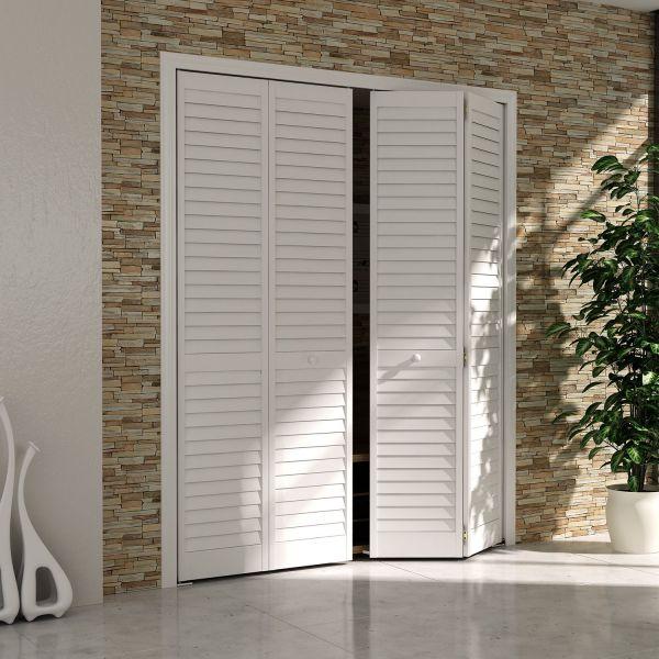 Bi-fold Door, Louver Louver Plantation 1x24x80 White