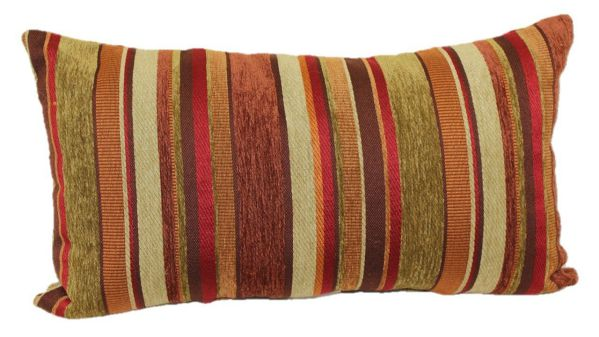 Brentwood Originals 2073 Carnival Stripe Toss Pillow, 14 by 24-Inch, Shiraz