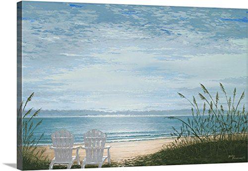 Bruce Nawrocke Premium Thick-Wrap Canvas Wall Art Print entitled Beach Chairs