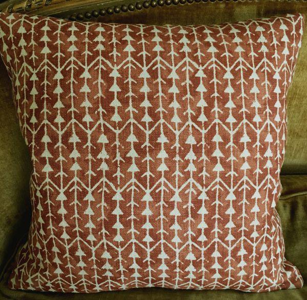 Carolina Irving Linen Fabric Custom Designer Throw Pillows Amazon Terra Cotta Beige Set of 2