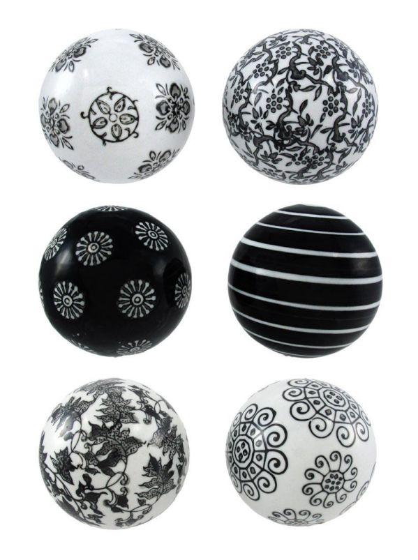 Deco 79 40777 Ceramic Ball Set of 6