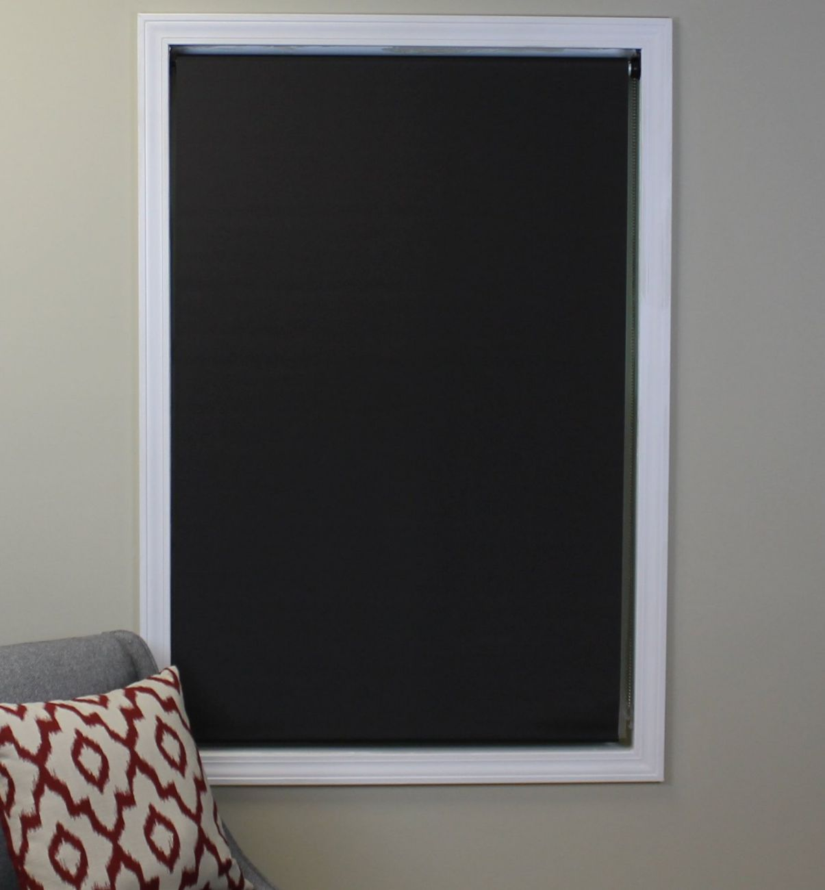 Deluxe Blackout Roller Shade, Color: Mocha, Size: 36Wx74H