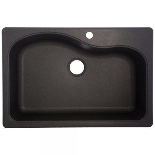 Franke USA SGR3322-1 Large Single Bowl Sink Granite 9-Inch Deep, Graphite
