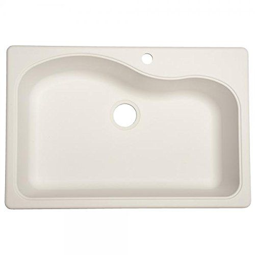 Franke USA SP3322-1 Large Single Bowl Sink Granite 9-Inch Deep, White