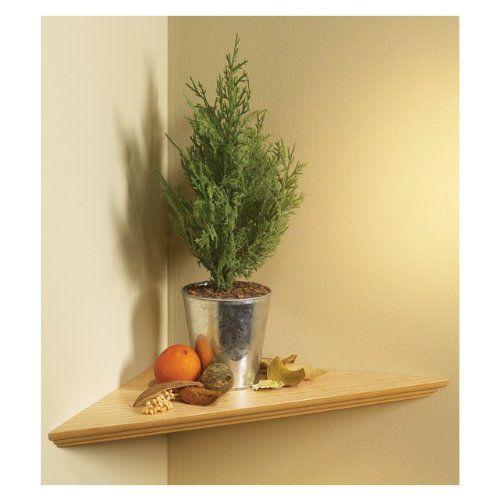 "KV Kitchen & Bath Storage EZC 12/1 OK Oak Instant Corner Shelves Single Pack, 12"""