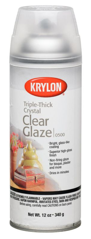 Krylon 12-Ounce Triple Thick Clear Glaze Aerosol Spray