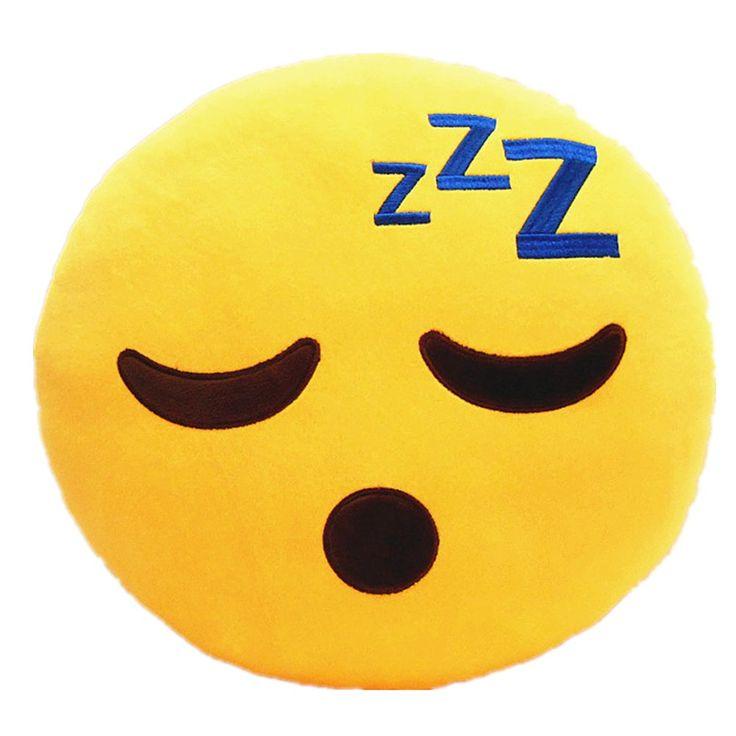 LI&HI 32cm Emoji Smiley Emoticon Yellow Round Cushion Pillow Stuffed Plush Soft Toy