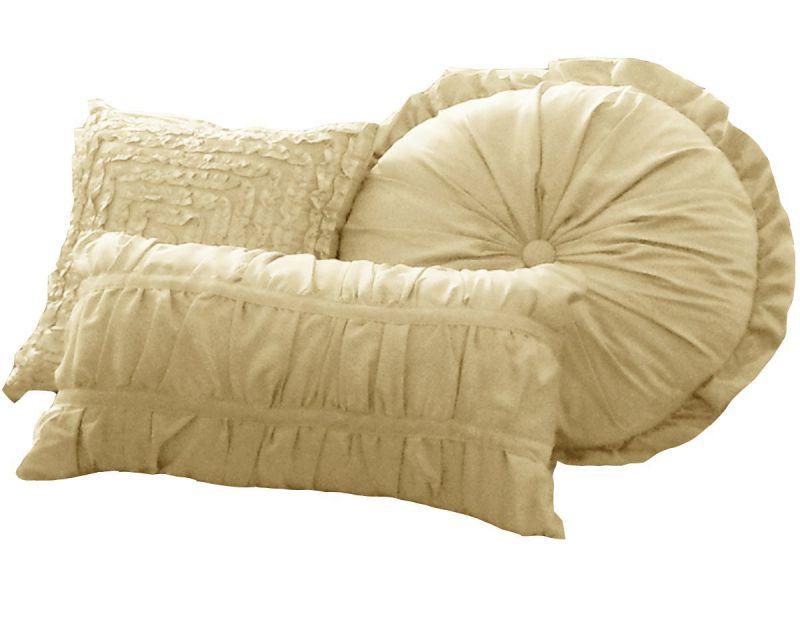 La Rochelle Sophia 4-Piece Decorative Pillow Set, Champagne