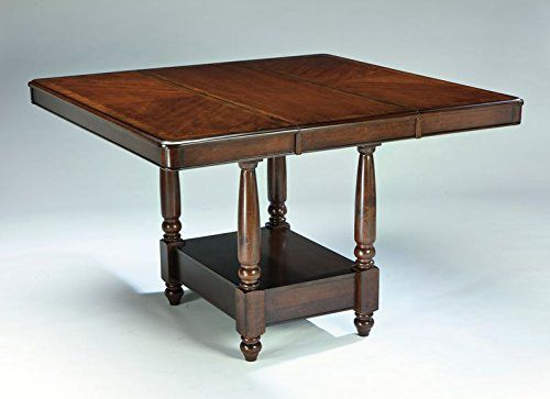 Signature Design by Ashley D436-32 Leahlyn Collection Counter Height Dining Room Table, Medium Brown
