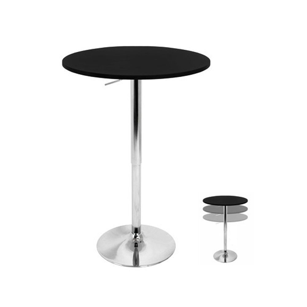 LumiSource LLC Adjustable Bar Table, BLACK