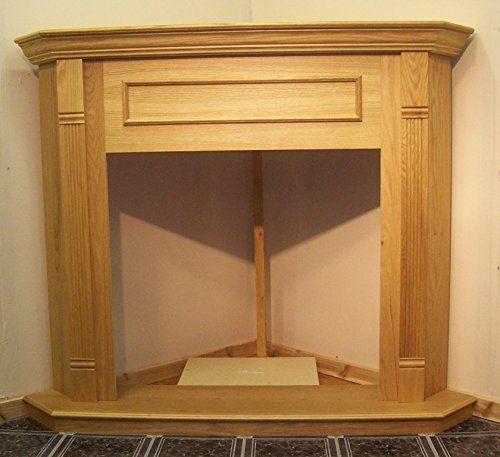 "Majestic CFM Corner Cabinet for Gas Fireplace 36"" Model F0C036 Mantel Honey Oak"