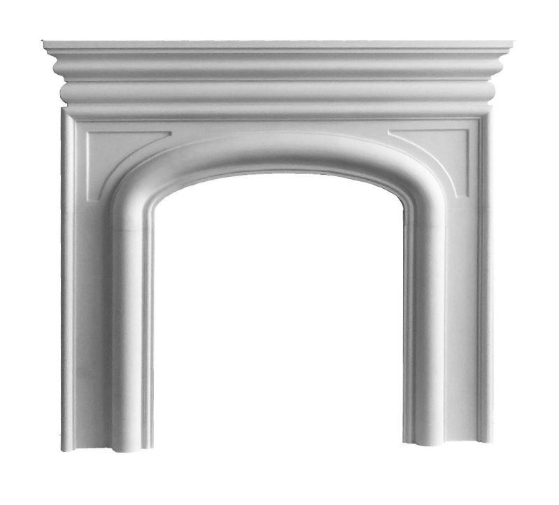 Modern Stone Fireplace Mantel (WHITE)