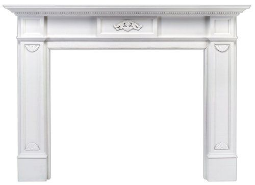 Pearl Mantels 530-48 Monticello Fireplace Mantel Surround with Medium Density Fiberboard, White, 48-Inch