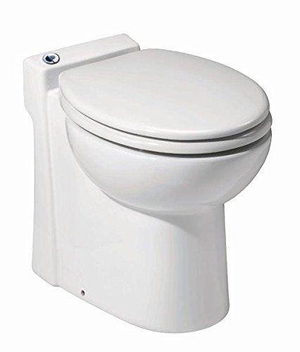 Saniflo 023 SANICOMPACT 48 One piece Toilet with Macerator Built Into the Base, White