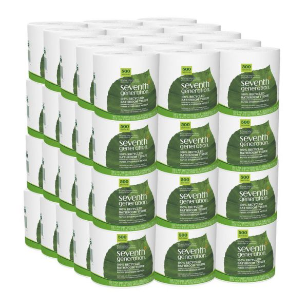 Seventh Generation Bathroom Tissue, 2 Ply Sheets, 500 Sheets Per Roll (Pack of 60)