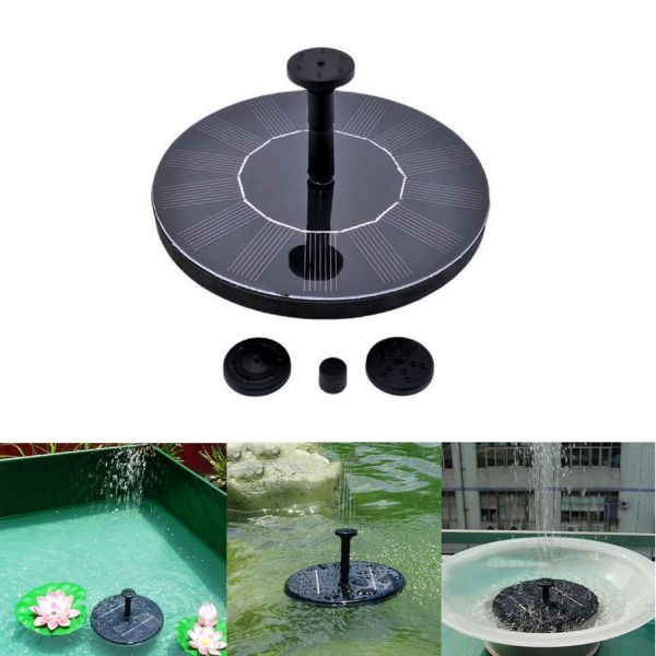 Solar Powered Bird Bath Fountain Pump - OurWarm 1.4W Solar Panel Kit Water Pump, Outdoor Watering Submersible Pump for Fish Tank,Small Pond,Garden Decoration