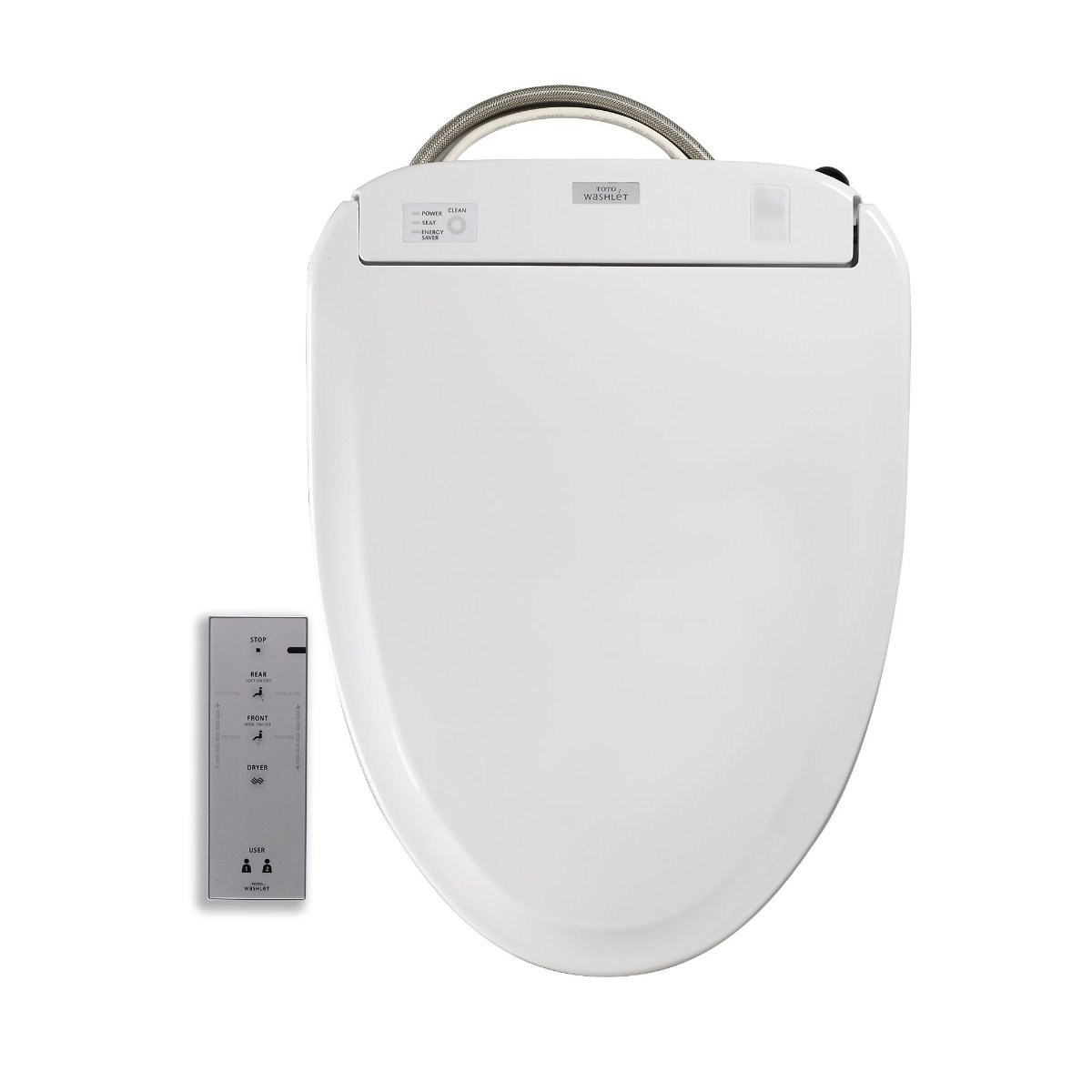 Toto SW584#01 Washlet S350e Toilet Seat-Elongated with ewater+, Cotton